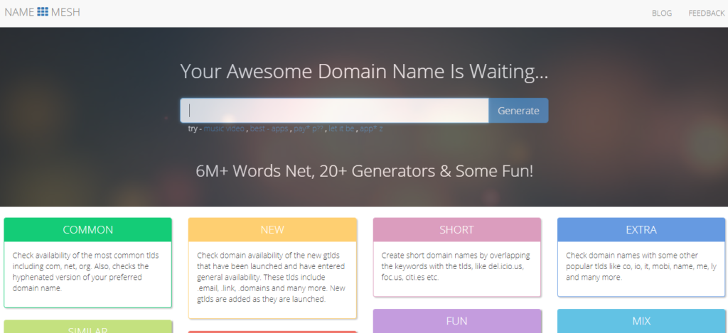 Namemesh name generator