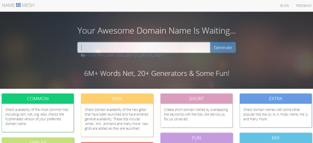 Namemesh name generator
