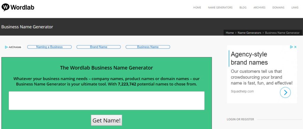 wordlab business name generator