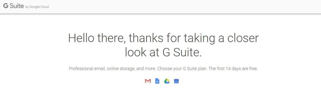 Free Gmail or Google G Suite