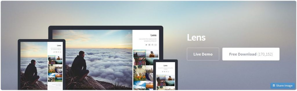 Free Website Template - Lens