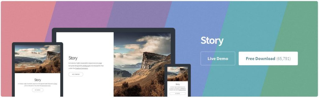Free Website Template - Story