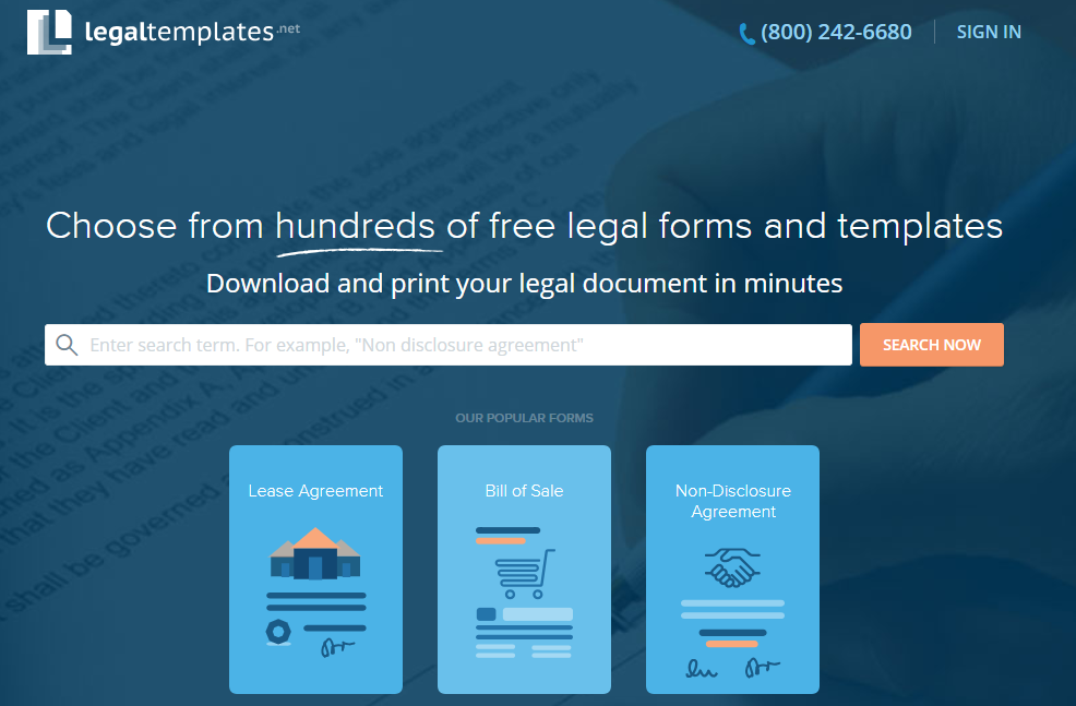 Free Legal Templates